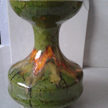 Lava Pattern Glazed Pot ! - Art Pottery