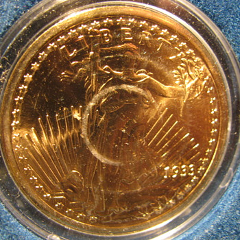 Tribute Proof of a 1933 20 dollar gold piece