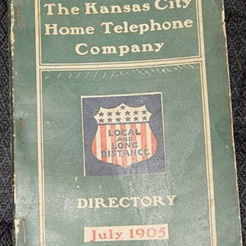 1905 K.C. Phone book