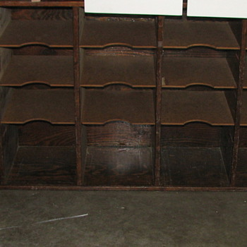 Vintage (Antique?) Post Office Postal Sorting Cabinet  - Office