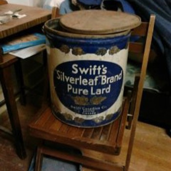 swifts  50 lb lard can