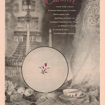 1953 Franciscan China Advertisement - Advertising