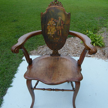 Very old painted chair - Furniture