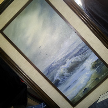 SEASCAPE OIL PAINTING ON CANVAS - Visual Art