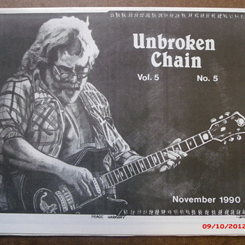 From my Grateful Dead Collection Unbroken Chain Vol.5 No.5 November 1990 - Music