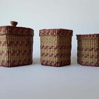 Indian nesting baskets