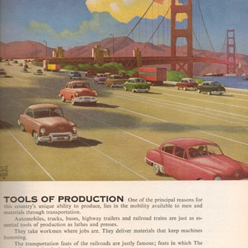 1951 - Budd Transportation Advertisement - Advertising