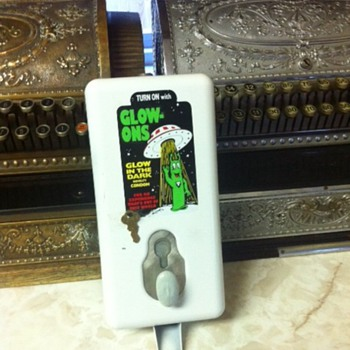 Turn on with Glow Ons Condom Machine - Coin Operated