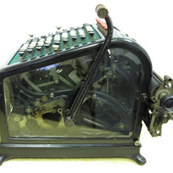 1908 Burroughs Adding Machine with Beveled Glass