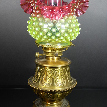 Hobbs Brockunier Dewdrop lamps in rubina verde - Glassware