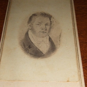 CDV of an earlier Ivory Miniature