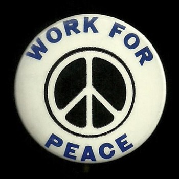 Nov 15, 1969 WORK FOR PEACE Pinback Button - Medals Pins and Badges