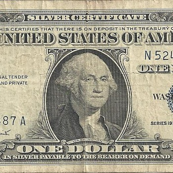 1957 A Silver Certificate - Signatures are not accurate - US Paper Money
