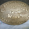 1891 Pittsburgh builders plate from the Iowa Central railroad engine #52