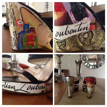 Louboutin one of a kind Collaged wedges - Shoes