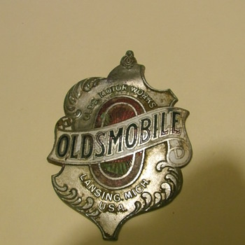 Metal Detecting Find...OLDSMOBILE BADGE - Medals Pins and Badges