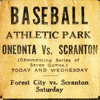 1921 Newspaper Ad Promoting a Baseball Game - Baseball