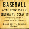 1921 Newspaper Ad Promoting a Baseball Game