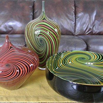 "Blown Glass from Jeff Holmwood ""Vortex"" Collection - Signed by Artist - Art Glass"