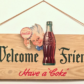 1944 Coca-Cola Cardboard Cutout Sign