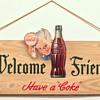 1944 Coca-Cola Cardboard Cutout Sign