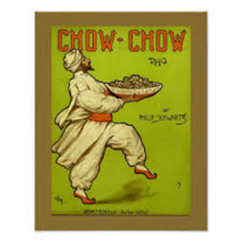 """CHOW CHOW"" NOT THE DOG?? IT IS FOOD! VINTAGE SHEET MUSIC COVERS EXPLAINED (1914)"