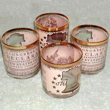 Bicentennial Bar Glasses