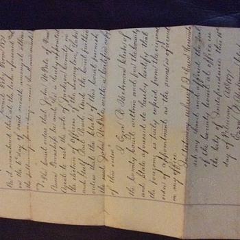 1870's railroad documents, final estimate and many more - Railroadiana
