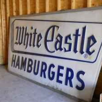 Vintage White castle sign 12x6