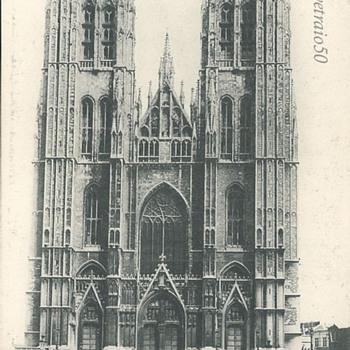 BRUXELLES. – L'ÉGLISE SAINTE-GUDULE
