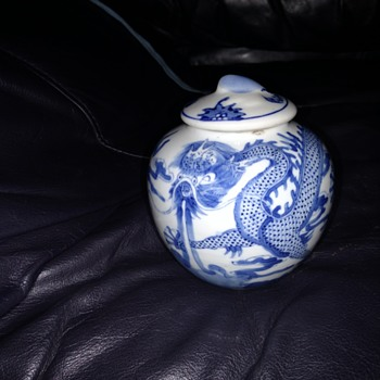Amazing new find! Beautiful Antique Dragon (export?) Chinese pot with lid