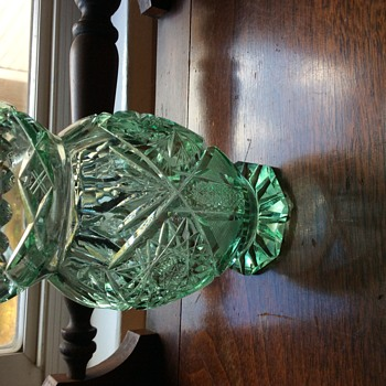 light green crystal vase