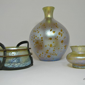More Loetz Art Glass Group shots ~~ Candia Collection ~~