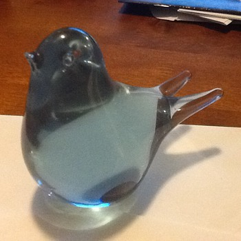 Cute glass bird - Art Glass