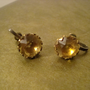 Really nice Citrine earrings - Costume Jewelry