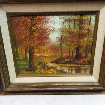 VINTAGE LANDSCAPE OIL PAINTING - Visual Art