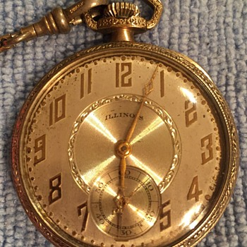 Grandfathers HDR Illinois Open Faced Pocket Watch