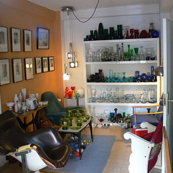 A glass collector's living room I - Art Glass