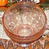 Pink Depression Glass Open Sugar