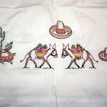 Very cute embroidered pillowcases i found in the trash - Rugs and Textiles