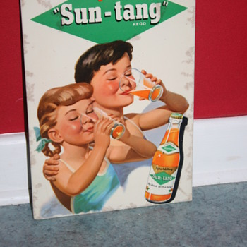 sun-tang celluloid advertising soda sign - Signs