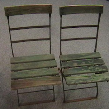 Wrigley Field 1920s/1930s Folding Chairs - Baseball