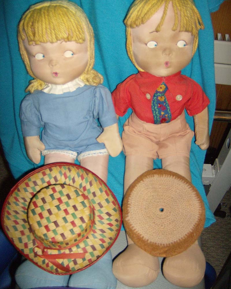 Vintage cloth boy and girl dolls collectors weekly