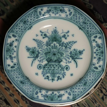 Delft Faience Low Bowl - signed - Art Pottery