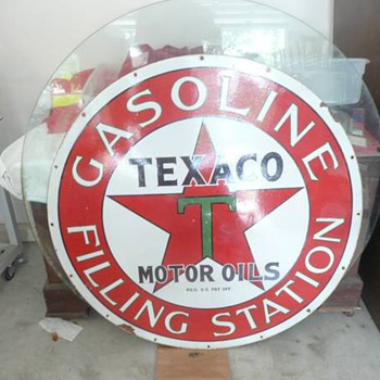 Texaco filling station sign, real or fake
