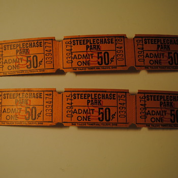 Coney Island Steeplechase Park Tickets - Paper