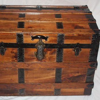 Refinished Antique Wall Trunk - Love THIS Trunk - Victorian Era