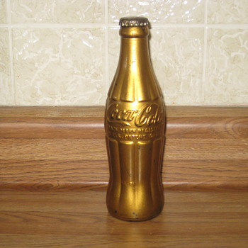 1920's Coca-Cola UNOPENED Bottle, painted Gold