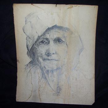 vintage pencil sketch