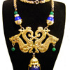 Vintage Donald Stannard Double Dragon Necklace